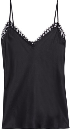 Frame Lace-trimmed Silk-satin Camisole