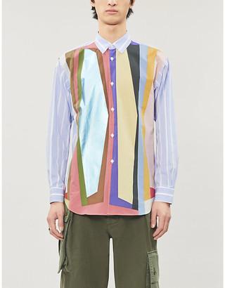 Comme des Garçons Shirt Colour-blocked regular-fit cotton shirt