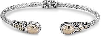 Samuel B. Sterling Silver & 18K Gold Cross Bangle Bracelet