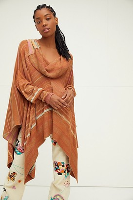 Free People Toffee Poncho Tunic
