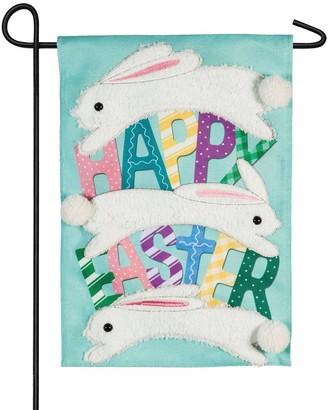 Jumping Easter Bunnies Garden Flag
