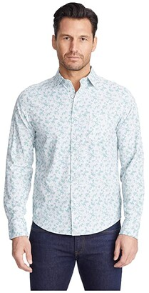 UNTUCKit Arcari Performance Shirt (Green) Men's Long Sleeve Button Up