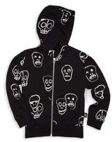 Nununu Boy's & Girl's Zip-Up Skull Hoodie