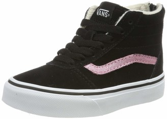 Vans Girls' Ward HI Zip Suede Top Trainers