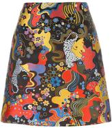 Mary Katrantzou jacquard a-line skirt - women - Silk/Polyester - 8