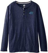 Dickies Men's Long Sleeve 3 Button Henley