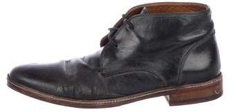 John Varvatos Leather Ankle Boots