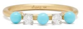 Irene Neuwirth Diamond, Turquoise & 18kt Gold Ring - Yellow Gold