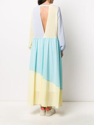 Mira Mikati gingham colour block dress