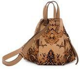 Loewe Hammock Small Tapestry Suede Bag
