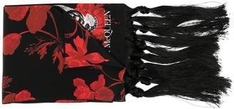 Alexander McQueen Skull-Motif Print Scarf