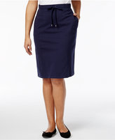 Karen Scott Petite Drawstring Skirt, Only at Macy's