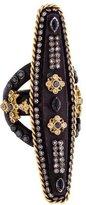 Armenta Diamond & Sapphire Shield Cocktail Ring