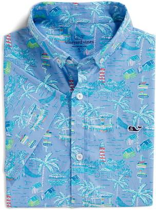 Vineyard Vines Bahamas Scene Short Sleeve Button-Down Shirt