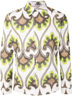 Walter Van Beirendonck Floral-Print Long-Sleeve Shirt