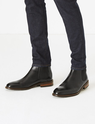 Marks and Spencer Wide Fit Leather Dainite Chelsea Boots