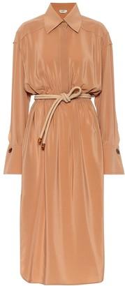 Fendi Silk midi shirt dress
