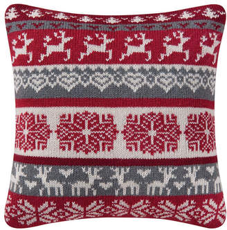 C&F Home C & F Home Prancing Reindeer Knit Pillow
