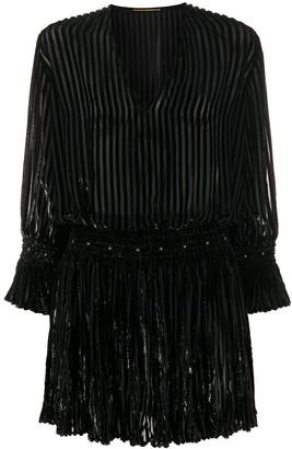 Saint Laurent Metallic Threading Mini Dress