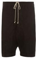 Rick Owens Mesh-overlay Dropped-crotch Shorts