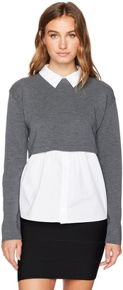 Milly Women's Removable Shirting Sweater