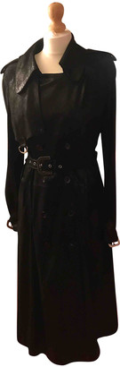 Christian Dior Black Leather Trench coats