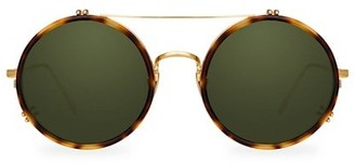 Linda Farrow 741 C5 Round Aviator Sunglasses