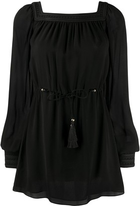 Saint Laurent Square Neck Mini Dress