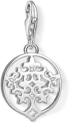 Thomas Sabo Women-Charm Pendant Tree Charm Club 925 Sterling silver zirconia white 1391-051-14