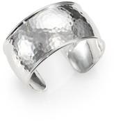Ippolita Classico Statement Sterling Silver Flat Hammered Cuff Bracelet