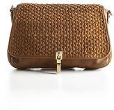Elizabeth and James Brown Leather Dune Cynnie Mini Crossbody Handbag 90062799