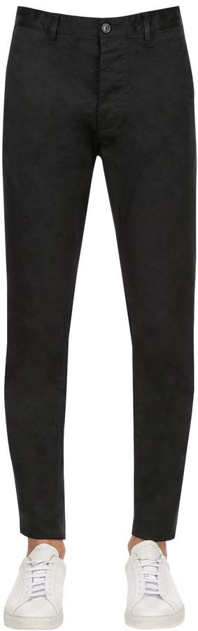 DSQUARED2 16cm Hockney Stretch Cotton Twill Pants