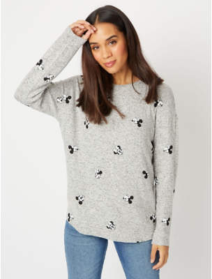Disney George Mouse Knitted Printed Top