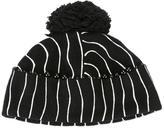 Le Chapeau striped pompom beanie