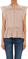 Ulla Johnson Women's Oksana Flutter-Sleeve Top-PINK