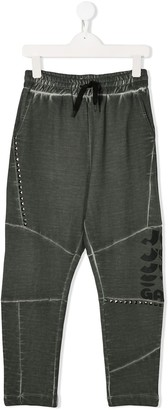 John Galliano Stud-Embellished Sweatpants