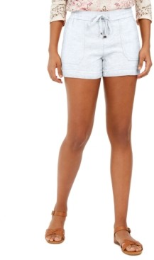 Style&Co. Style & Co Petite Linen-Blend Pull-On Shorts, Created for Macy's