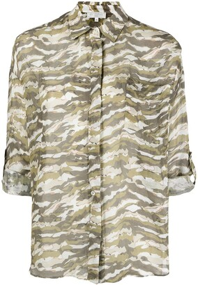 Antonelli Painterly-Print Concealed Shirt