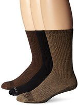Dickies Men's 3 Pack Dri-Tech Moisture Control Heather Assortment Crew Socks