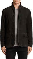 AllSaints Seymour Leather Blazer, Black