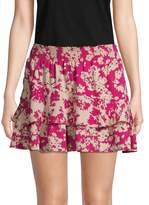 Ramy Brook Abstract-Print Mini Skirt