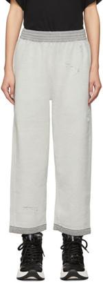MM6 MAISON MARGIELA Grey Reverse Cotton Fleece Lounge Pants