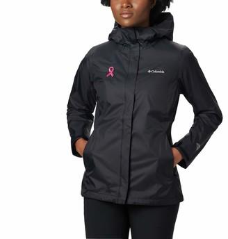 Columbia Women's Plus SizeTested Tough in Pink Rain Jacket Ii Size