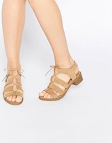 New Look Tie Up Flat Sandal