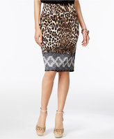 Thalia Sodi Printed Pencil Skirt, Only at Macy's