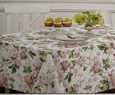 Waverly Easy Care Fabric Tablecloth -Forever Yours 100% Polyester Assorted Sizes- Rectangle and Round (60 x 102)