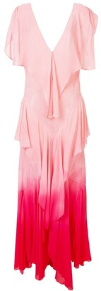 ATTICO ruffle tiered maxi dress