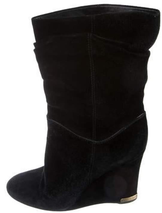 99b8edd1875 Suede Mid-Calf Boots Black Suede Mid-Calf Boots