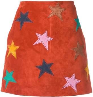 Saint Laurent star patch mini skirt