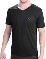 Puma Basic V-Neck T-Shirt - Short Sleeve (For Men)